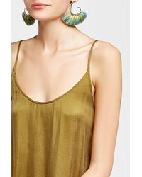 Gas Bijoux | Metallic Buzios 24kt Gold-plated Earrings With Feathers | Lyst
