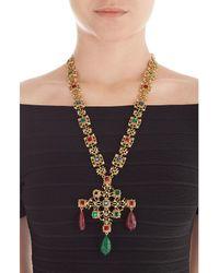 Kenneth Jay Lane - Metallic Embellished Necklace - Lyst