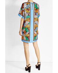 Emilio Pucci - Blue Printed Silk Dress - Lyst