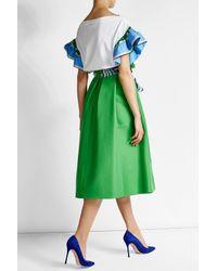 Emilio Pucci - Green Cotton Midi Skirt With Silk - Lyst