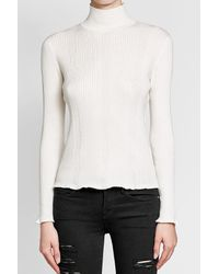 A.P.C. - Multicolor Ribbed Cotton, Silk And Cashmere Turtleneck Top - Lyst