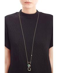 Alexis Bittar - Blue Mixed Charm Pendant Necklace - Lyst