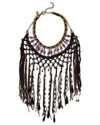 Erickson Beamon - Black Chinoiserie Necklace - Lyst