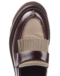 Brunello Cucinelli - Multicolor Leather Loafer With Embellishment - Lyst