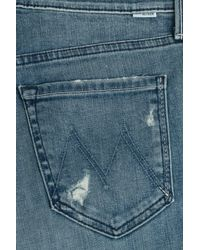 Mother - Blue The Dropout Cropped Jeans - Lyst