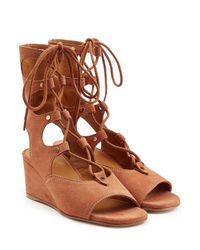 Chloé - Brown Suede Sandals - Lyst