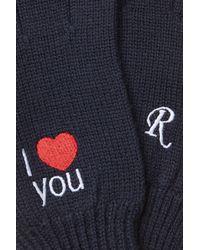 Raf Simons - Blue Bestickte Handschuhe aus Wolle for Men - Lyst
