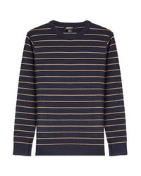 DKNY - Black Striped Pullover - Lyst