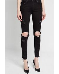 Amiri - Black Thrasher Distressed Skinny Jeans - Lyst
