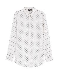 Theory Printed Silk Blouse 37
