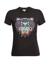 KENZO Purple Printed Cotton T-shirt