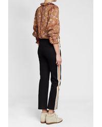 Étoile Isabel Marant - Black Striped Track Pants - Lyst