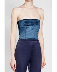 Galvan - Blue Jumpsuit With Velvet - Lyst