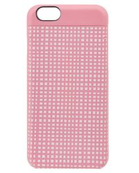 Marc By Marc Jacobs - Pink Windowpane Printed Iphone 6 Case - Lyst