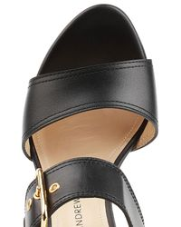 Paul Andrew | Black Leather Sandals | Lyst