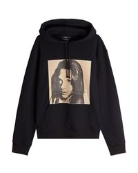 CALVIN KLEIN 205W39NYC - Black X Andy Warhol Printed Cotton Hoody for Men - Lyst