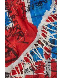 Burberry - Multicolor Doodle Print Silk-cotton Scarf - Lyst