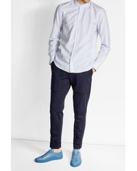 Baldessarini - Blue Printed Cotton Shirt for Men - Lyst