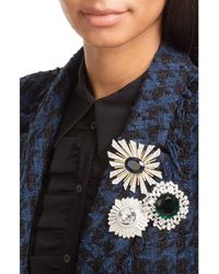 Kenneth Jay Lane - Multicolor Crystal Embellished Brooch - Lyst