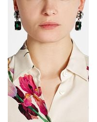 Marni - Multicolor Embellished Clip On Earrings - Lyst