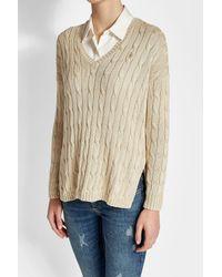 Polo Ralph Lauren - Natural Cotton Pullover - Lyst