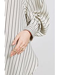 Marc Jacobs - Metallic Cabochon Midi Ring Set - Lyst