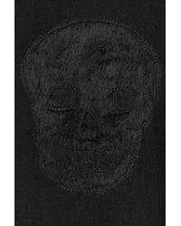 Alexander McQueen - Black Wool-mohair-silk Pullover With Skull Motif for Men - Lyst