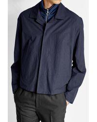 Jil Sander - Blue Cotton Jacket for Men - Lyst