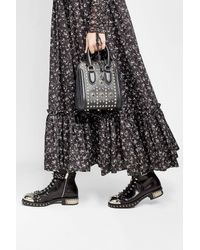 Alexander McQueen - Black Heroine Mini Embellished Leather Tote bag - Lyst