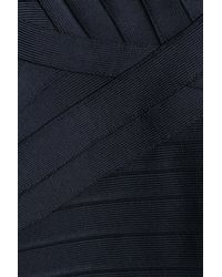 Hervé Léger - Blue Bandage Dress With Cutouts - Lyst