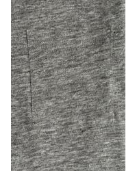 American Vintage - Gray Linen T-shirt for Men - Lyst