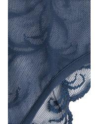 La Perla - Blue Lace Briefs - Lyst