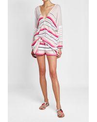 Lemlem - Pink Printed Cotton Kaftan - Lyst