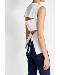 Rejina Pyo - Blue Cotton Blend Top With Distressed Back - Lyst