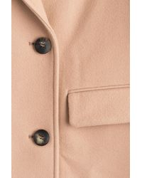 Emilio Pucci - Natural Virgin Wool Coat With Cashmere - Lyst