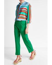Diane von Furstenberg - Green Wool Pants - Lyst