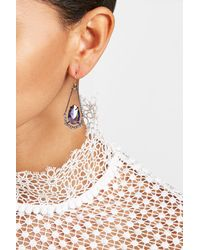 Alexis Bittar | Blue Crystal Drop Earrings With Chain Surround | Lyst
