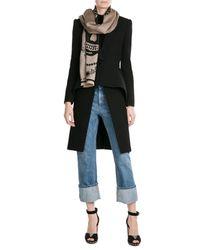 Alexander McQueen - Black Printed Wool Scarf - Lyst