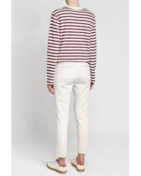Joseph Multicolor Striped Cotton Top