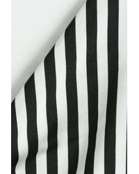 La Perla - Black Striped Triangle Bikini Top - Lyst
