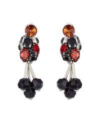 Marni - Black Embellished Earrings - Lyst