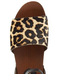 Sam Edelman - Multicolor Haircalf And Leather Platform Sandals - Lyst