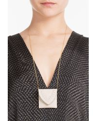 Hacienda Montaecristo - Metallic Marieta Gold Plated Necklace With Leather Pouch - Lyst