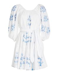 Juliet Dunn - Multicolor Embroidered Mini Dress - Lyst