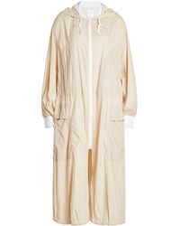 DKNY - Natural Lightweight Coat With Hood - Lyst