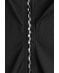 Rick Owens - Black Gathered Dress With Zipper - Lyst