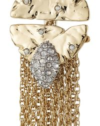 Alexis Bittar - Metallic 10kt Gold Earrings With Crystal Embellishment - Lyst