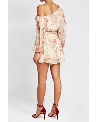 Zimmermann - Multicolor Printed Silk Chiffon Dress - Lyst