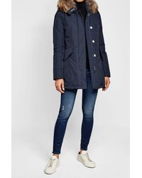 Woolrich - Blue Luxury Arctic Down Parka With Fur-trimmed Hood - Lyst