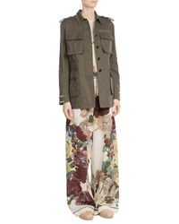 Valentino - Multicolor Cotton Jacket With Rockstuds - Lyst